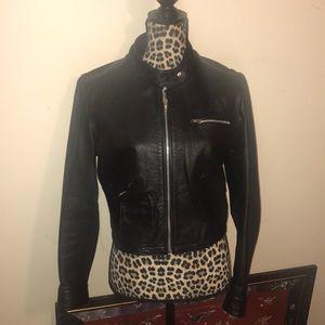 Patriza Pepe Italian Leather Jacket Final Sale